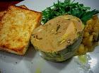 Paté Casero con Foie y Ceps, Brioche y Mango